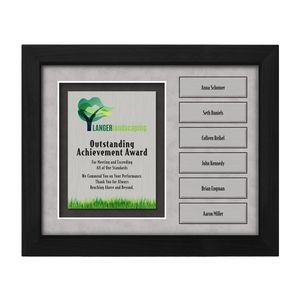 Framed Perpetual Collection - Framed Full Color Plaque with Accent and Add-on Plates (10