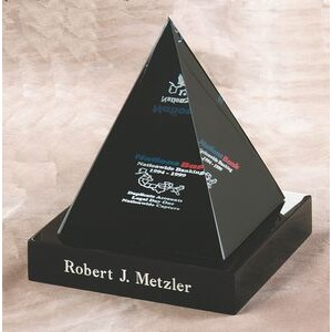 "Lucite 4 Sided Pyramid Embedment (4""x4""x5"")"