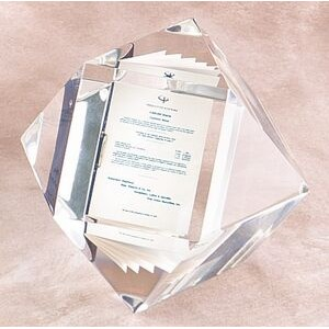 "Lucite 14 Sided Cube Embedment (3"")"