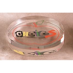 "Lucite Lie Down Oval Embedment (4 1/4""x3 1/4""x1 1/4"")"