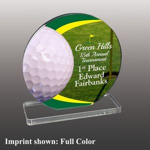 Large Golf Themed Full Color Acrylic Award