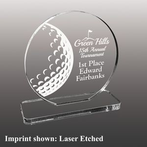 Medium Golf Themed Etched Acrylic Award