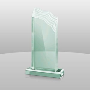 "Jade Green Acrylic Summit Award II (7 1/4""x4""x2"")"