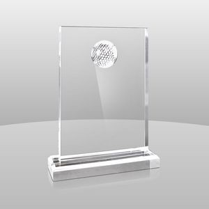 "Clear Golfer Award (9""x7""x2"")"