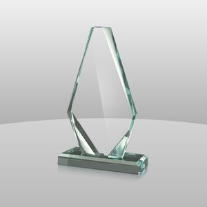 "Jade Green Acrylic Pinnacle Award I (10 1/4""x5""x2"")"