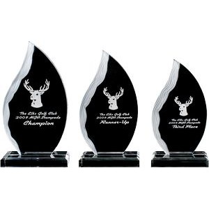 Acrylic Flame Award w/ Frosted Side