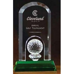 "5""x8-1/2"" Crystal on the Green Award"