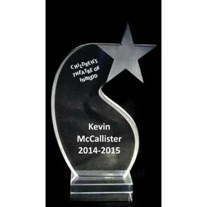 "EXCLUSIVE! Acrylic and Crystal Engraved Award - 8"" Tall Shooting Star"