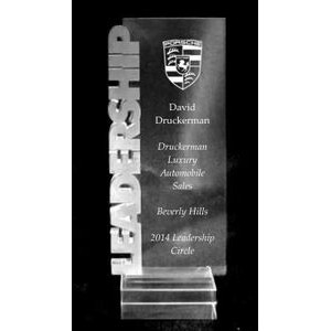 "Acrylic and Crystal Engraved Award - 7"" Tall Leadership Billboard"